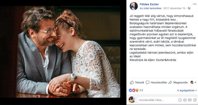 Újabb taggal bővült Lovasi András családja